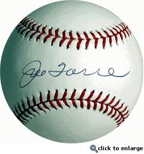 Joe Torre autographed Rawlings American League baseball