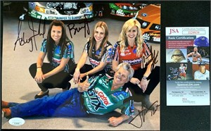 John Force autographed 1997 Castrol GTX 8x10 NHRA photo card inscribed 11X