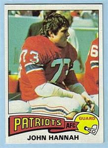 John Hannah Patriots 1975 Topps card #318 ExMt/NrMt