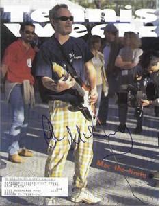 John McEnroe autographed 1997 Tennis Week magazine