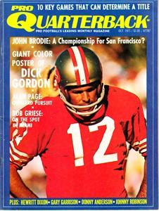 John Brodie San Francisco 49ers 1971 Pro Quarterback magazine