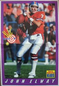 John Elway autographed Denver Broncos Sports Illustrated for Kids mini poster