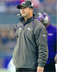 John Harbaugh autographed Baltimore Ravens 8x10 photo