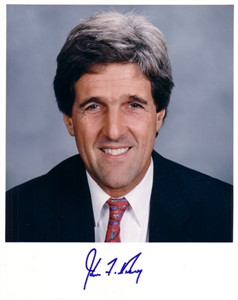 John Kerry 8x10 photo with facsimile signature