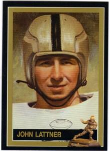 John Lattner Notre Dame Heisman Trophy winner card