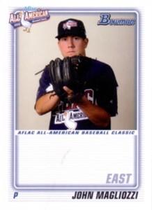 John Magliozzi 2010 AFLAC Bowman Rookie Card