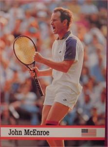 John McEnroe 1993 Fax-Pax tennis card