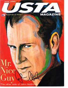 John McEnroe autographed 2002 Tennis magazine