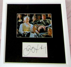 John O'Hurley autograph matted & framed with Seinfeld 5x7 J. Peterman photo