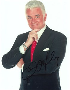 John O'Hurley autographed 8x10 black and white portrait photo