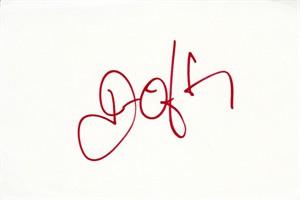 John O'Hurley autographed index card