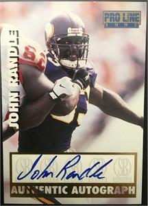 John Randle Minnesota Vikings certified autograph 1995 Classic Pro Line card