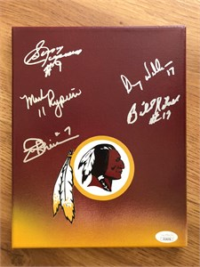 John Riggins Mark Rypien Doug Williams autographed Washington Redskins full size helmet with Super Bowl MVP inscriptions (JSA)