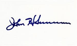 John H. Sununu autographed index card