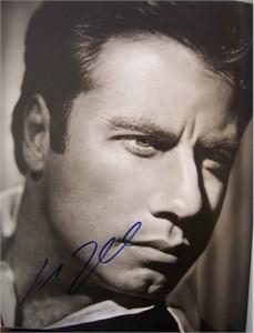 John Travolta autographed 11x14 Rolling Stone book photo