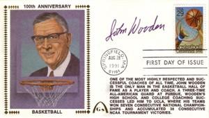 John Wooden autographed 1991 Basketball Centennial First Day Cover Gateway cachet