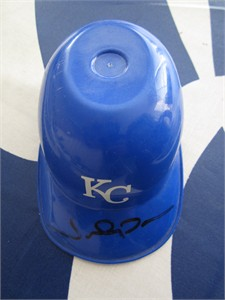 Johnny Damon autographed Kansas City Royals mini ice cream batting helmet