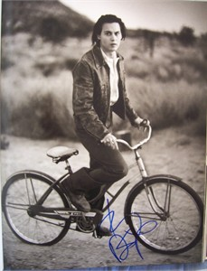 Johnny Depp autographed 11x14 Rolling Stone book photo