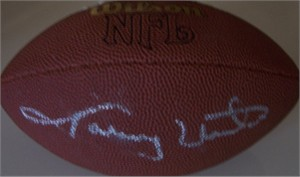 Johnny Unitas autographed mini Wilson NFL football