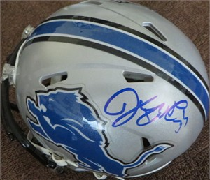 Joique Bell autographed Detroit Lions Riddell Speed mini helmet