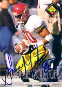 Johnnie Morton autographed 1994 USC Trojans card