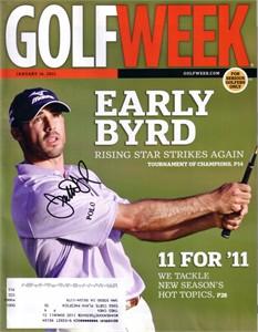 Jonathan Byrd autographed 2011 Golfweek magazine