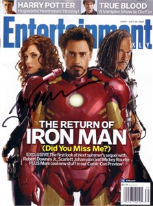 Jon Favreau autographed Iron Man 2 Entertainment Weekly magazine