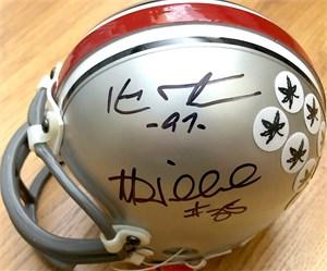 Kenny Peterson & Matt Wilhelm autographed Ohio State Buckeyes mini helmet