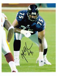 Jonathan Ogden autographed Baltimore Ravens 8x10 photo