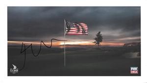 Jordan Spieth autographed 2015 U.S. Open 6x11 commemorative card