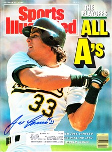 Jose Canseco autographed Oakland A's 1988 Sports Illustrated