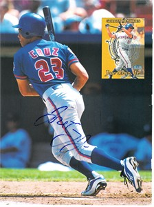 Jose Cruz Jr. autographed Toronto Blue Jays Beckett Baseball back cover photo