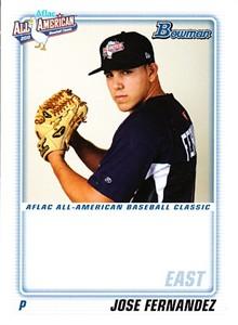 Jose Fernandez 2010 AFLAC Bowman Rookie Card