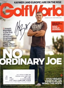 Joseph Bramlett autographed 2011 Golf World magazine