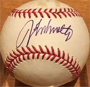 John Smoltz autographed MLB baseball