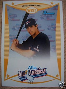 Jonathan Walsh 2008 AFLAC Bowman Rookie Card