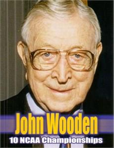 John Wooden 2004 4x5 inch promo card