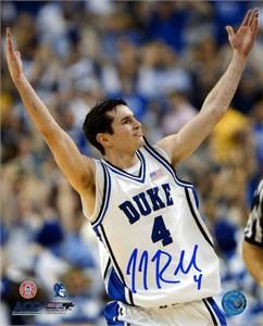 J.J. Redick autographed Duke Blue Devils 16x20 poster size photo