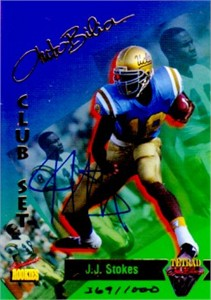 J.J. Stokes certified autograph UCLA Bruins 1995 Signature Rookies card