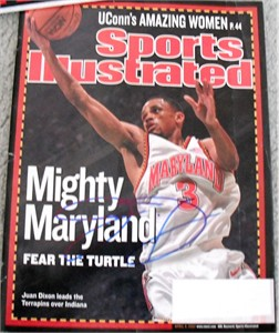 Juan Dixon autographed Maryland Terrapins 2002 National Champions Sports Illustrated (JSA)