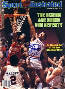 Julius (Dr. J) Erving autographed Philadelphia 76ers 1983 Sports Illustrated