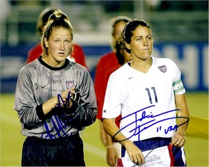 Julie Foudy & Siri Mullinix autographed U.S. National Team 8x10 photo