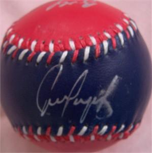 Juan Gonzalez Ivan Rodriguez Benji Gil Bobby Witt autographed 1996 Texas Rangers baseball