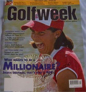 Julieta Granada (LPGA) autographed 2007 GolfWeek magazine