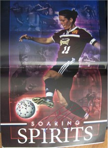 Julie Foudy autographed WUSA San Diego Spirit magazine centerfold poster