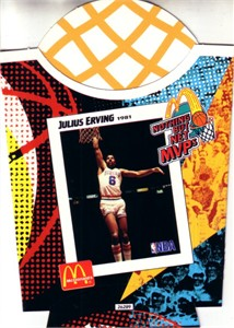 Julius Erving Philadelphia 76ers 1994 McDonald's Nothing But Net MVPs french fry container