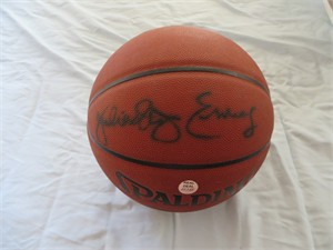 Julius (Dr. J) Erving autographed Spalding NBA All Surface basketball