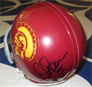 Junior Seau autographed USC Trojans mini helmet