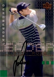 Justin Rose autographed 2002 Upper Deck golf Rookie Card
