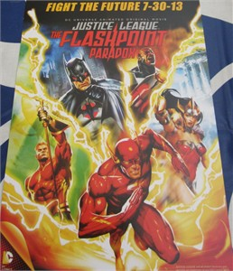 Justice League Flashpoint Paradox 2013 mini DC Comics poster